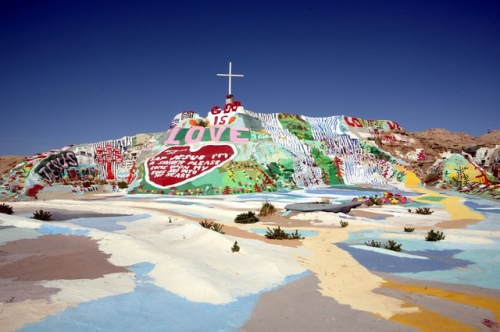 Salvation Mountain by Leonard Knight in Imperial County, CA. Photo: Chris Wang