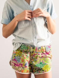 Atelier Delphine Garden Vista Shorts for Of A Kind.