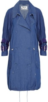 Acne Studios Denim Trench Coat.