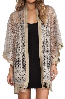 Anna Sui Crochet Lace Kimono