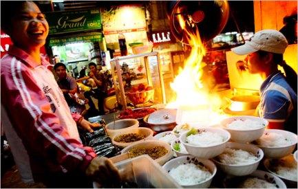 Bún Bò Nam Bộ in Hà Nội, Việt Nam.