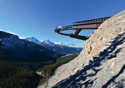 The Glacier Skywalk in Jasper National Park, Canada.