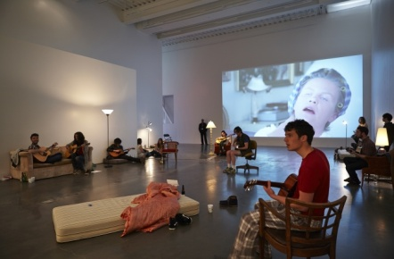 Me, My Mother, My Father and I by Ragnar Kjartansson at the New Museum.
