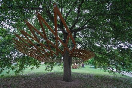 Design Build Adventure's Palm Park Tree Installation in Austin, TX.