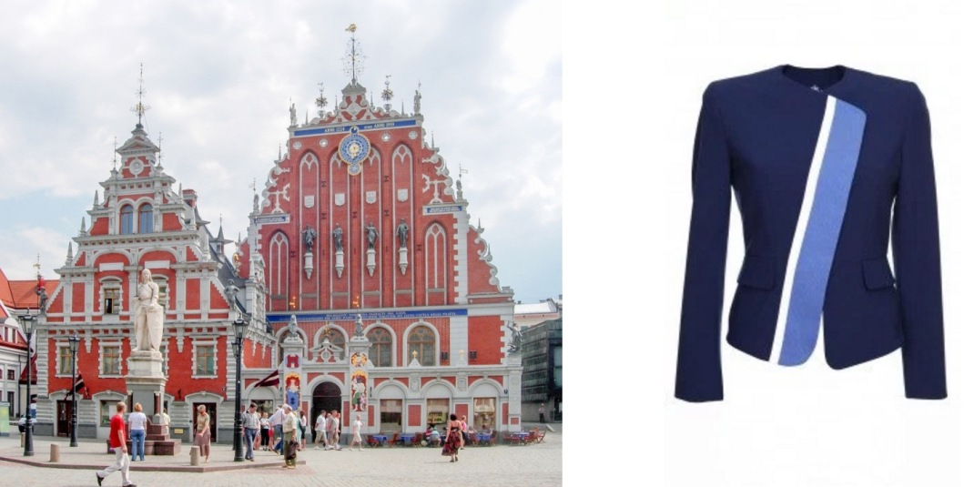 House of Blackheads in Riga, Latvia paired with Narciss Lupine Jacket.