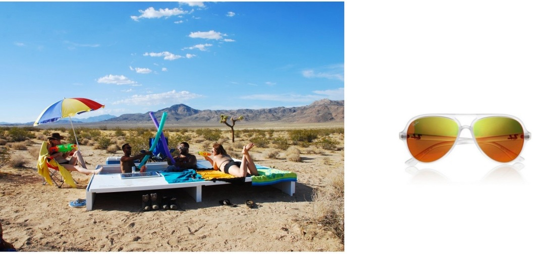 """Social Pool"" by Alfredo Barsuglia in the Mojave Desert, CA (Photo c/o ihopeyouenjoythis.com) paired with Ray-Ban Aviator Acetate Sunglasses."