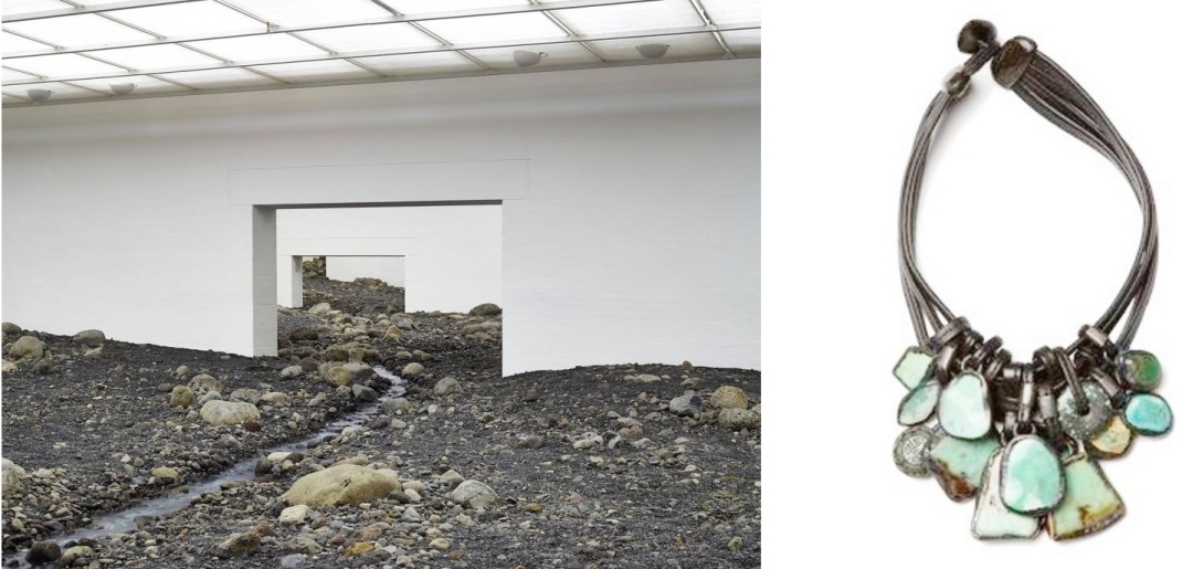 """Riverbed"" by Olafur Eliasson at the Louisana Museum of Modern Art in Denmark paired with Monies of Denmark Necklace."