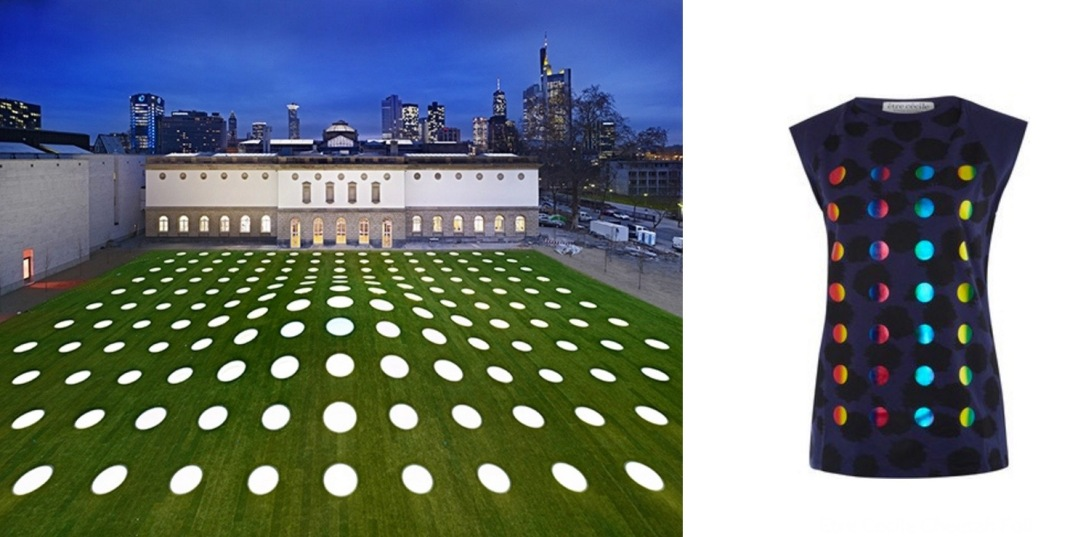 Städel Museum extension in Frankfurt am Main, Germany paired with Etre Cecile Cheetah Foil Dots Tank.