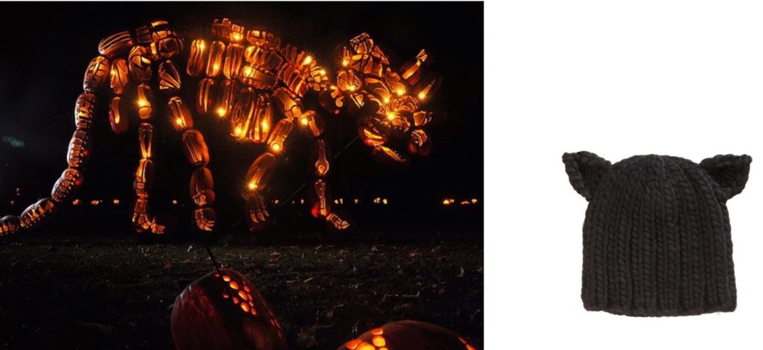 The Great Jack O'Lantern Blaze at Van Cortlandt Manor in Croton-on-Hudson, NY paired with Eugenia Kim Felix Wool Beanie.