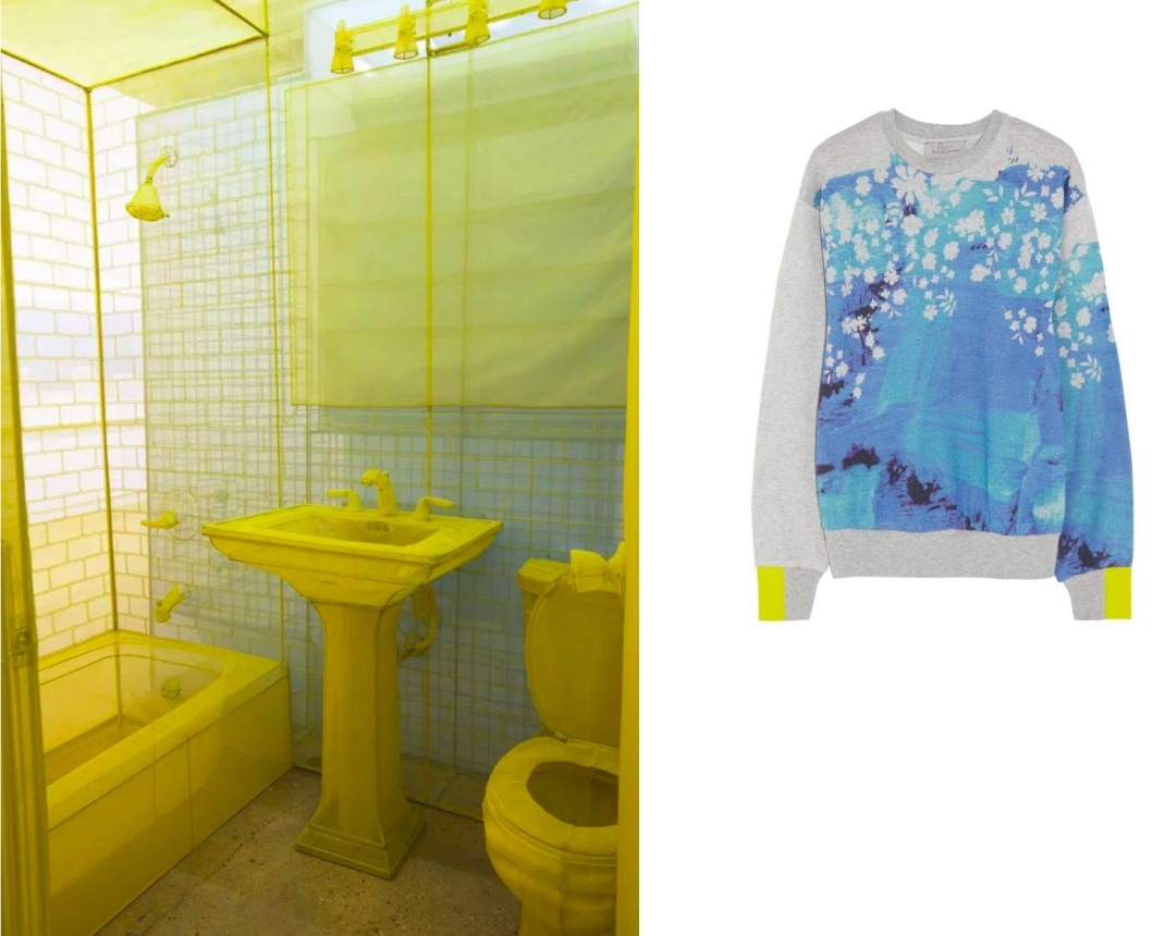 "Do Ho Suh's ""348 West 22nd Street"" at The Contemporary Austin in Austin, TX (Photo by Brian Fitzsimmons) paired with Preen Splash Sweatshirt."