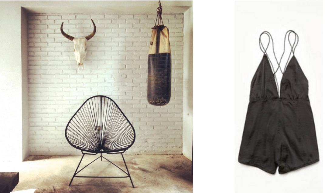 A guest room at the new Drift San Jose in Baja California Sur, Mexico paired with Free People Losin It Romper.